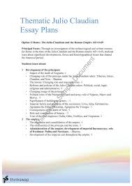 band essay plans on the julio claudians year hsc ancient  band 6 essay plans on the julio claudians