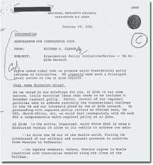 Bush Administration S First Memo On Declassified Sample Policy ...