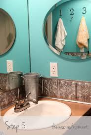 diy faux tin ceiling tile back splash