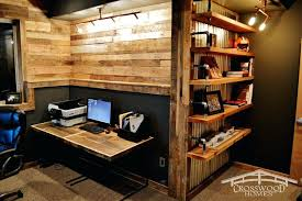 Nice home office Small Wooden Home Office Rustic Home Office With Built In Shelf And Paneled Wall Small Wooden Home Wooden Home Office The Hathor Legacy Wooden Home Office Nice Home Office Small Wooden Home Office Desk
