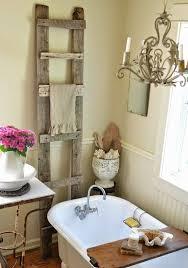 11 antique wood ladder towel rack