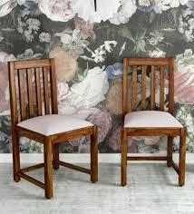 Image Ekbote Furniture Buy Abbey Solid Wood Dining Chair set Of 2 In Provincial Teak Finish By Woodsworth Online Dining Area Furniture Studio New Delhi Kirti Nagar Pepperfry Buy Abbey Solid Wood Dining Chair set Of 2 In Provincial Teak