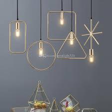 acheter e27 suspension lumineuse creative nordic loft iron suspension géométrique noir doré blanc de 25 21 du greatlight520 dhgate com