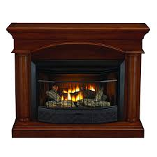 style selections 23000 btu vent free gas fireplace with cinnamon mantel