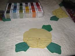 Antique Quilt Restoration | Dandelion Mama & Here you can see the white patch. It's organic shaped on the front to  preserve as much of the original as possible. You can see the yellows are  not a ... Adamdwight.com