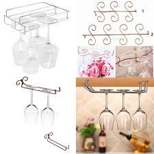 details about glass rack wine glass hanger holder home kitchen bar glass storage rack