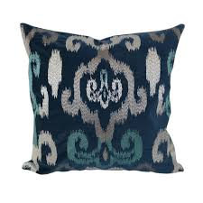 Home Accent Pillows Blue Velvet Shimmery Silver and Teal Embroidery 20-inch  x 20-inch Throw Pillow - Free Shipping On Orders Over $45 - Overstock.com -  ...