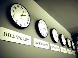digital multi time zone wall clock india zones world desk