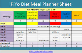 diet excel sheet plan shop and succeed on the piyo diet with printables food