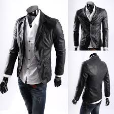 mens leather blazer dinner jacket free free worldwide