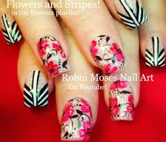 Robin Moses Nail Art: Spring Flower Nail Art Design! Hace perfect ...