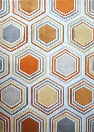 luxurious and splendid grey orange area rug 2