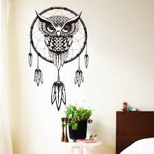Purchase Dream Catchers Indian Dream Catcher Vinyl Owl Wall Sticker free shipping worldwide 88