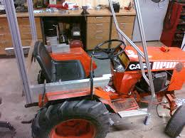a better winter cab for my case garden tractor i figured i would put this prototype on the 446 that will eventually be my backup tractor when i restore a 448 that is waiting for