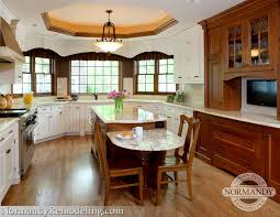 kitchen island with table height seating two level - Google Search