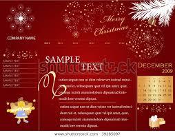 Free Christmas Website Templates Christmas Website Template All Editable Vector Stock Image