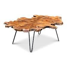 java teak root coffee table black