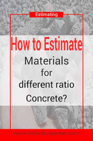 Concrete Calculation Chart How To Calculate Materials For Different Ratio Concrete A