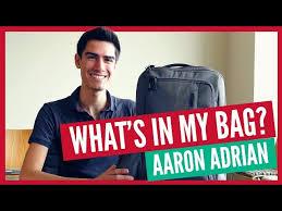 What's In My Bag - Aaron Adrian - YouTube