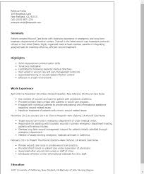 Resume Templates: Wound Care Nurse