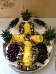 Decorated Fruit Trays Creation for first communion party My Creations Pinterest 56