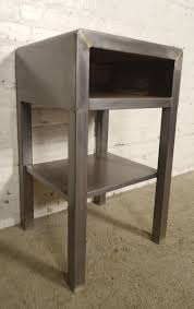 vintage industrial simmons metal side table. Vintage Modern Bedside Table Designed By Norman Bel Geddes. Stripped Metal Style, Giving A Industrial Simmons Side