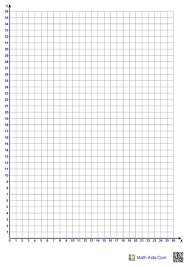 Download Single Quadrant 1 Per Page Graphing Paper For Free