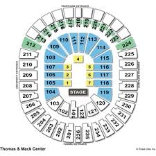 78 Unfolded Thomas And Mack Center Seating Chart Wwe