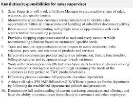 ... Sales Resume, Sales Supervisor Job Description Retail Sales Manager  Interview Questions: Retail Sales Manager ...