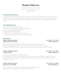 Example Of College Resume Template Unique Medical Receptionist Resume Medical Assistant Resumes Receptionist