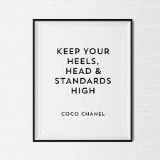 Coco Chanel Cornice Quotazione Tumblr Pinterest Virgolette Etsy