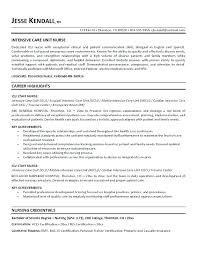 Example Nursing Resume Mmventures Co