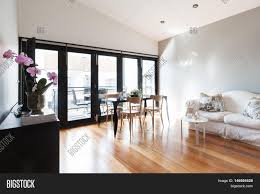 Living Room Balcony Door Design Large Studio Apartment Image Photo Free Trial Bigstock