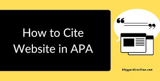 how to cite a in apa 7th