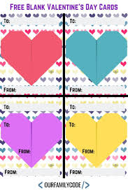 Printable Blank Cards Free Printable Blank Valentines Day Cards Our Family Code