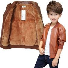 25 61 teenager 2 14yrs baby boys leather jacket boys fashion children outerwear kids girls coats spring leather fur jackets 2019 new