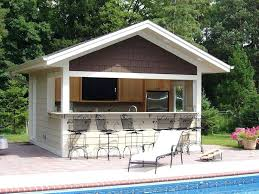 pool shed ideas build a bar into the side of your pool house where family can