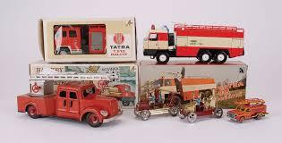 Tatra (Czech) and other tinplate Fire Engine group - Tatra 815 ...