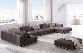 modern sectional sofas microfiber.  Modern Brown Fabric Modern Sectional Sofa With Ottoman Qt Microfiber  Sofas To Sofas Y