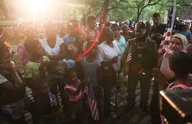 dozens congregate in fort greene park to celebrate burn old glory  photo gallery