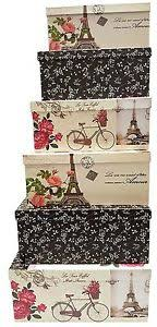 Stacking Boxes Decorative Nesting Gift Boxes eBay 27