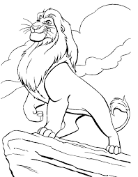 Small Picture Lion King Coloring Pages King Mufasa Coloring Pages For Kids