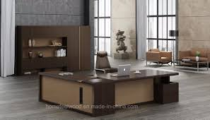 wooden office table. Modern Appearance Wooden Boss Type Executive Office Table (HF-JL40601) K