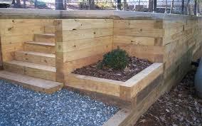 4x4 retaining wall back to wood retaining wall ideas build 4x4 wood retaining wall