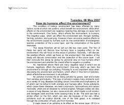 environmental protection essays environmental protection