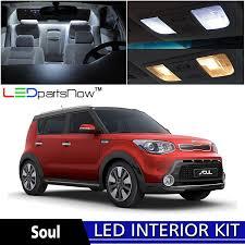 com ledpartsnow 2016 up kia soul led interior lights accessories replacement package kit 9 pieces white automotive