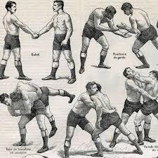 Wrestling Moves Chart Antique Sports Print Wrestling Moves Illustration 1930s