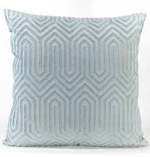 porcelain blue velvet euro sham  light blue eileen k boyd