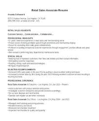 E Resumes Sample Resumes For Retail Jobs Good Resume Examples For Retail Jobs