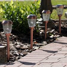 Copper Solar Pathway Lights Copper Charleston Solar Pathway Lights 6 Pack